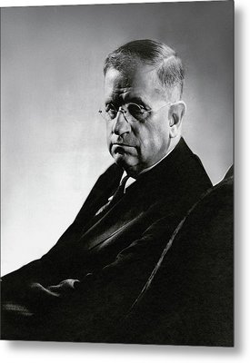 Harold L. Ickes Wearing Glasses Metal Print by Lusha Nelson