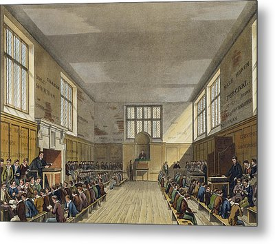 Harrow School Room From History Metal Print