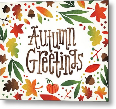 Harvest Time Autumn Greetings Metal Print by Michael Mullan