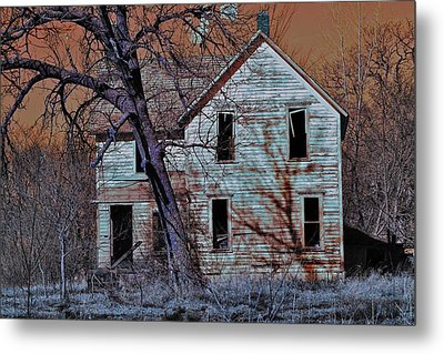Haunted House  Metal Print by Jon Baldwin  Art