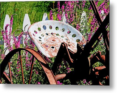 Have A Seat Metal Print by Heather Allen