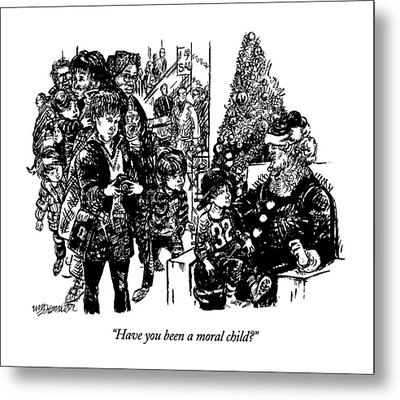 Have You Been A Moral Child? Metal Print by William Hamilton