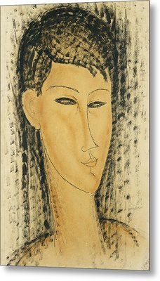 Head Of A Young Women Metal Print by Amedeo Modigliani