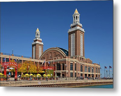 Headhouse Chicago Navy Pier Metal Print by Christine Till