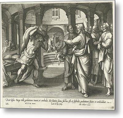Healing Of The Man At The Pool Of Bethesda Metal Print