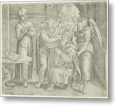 Healing Of Tobit, Cornelis Massijs Metal Print