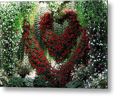 Metal Print featuring the photograph Hearts And Flowers by Jennifer Wheatley Wolf