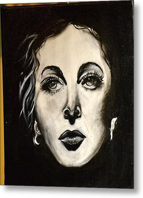 Metal Print featuring the painting Hedi by Sandro Ramani