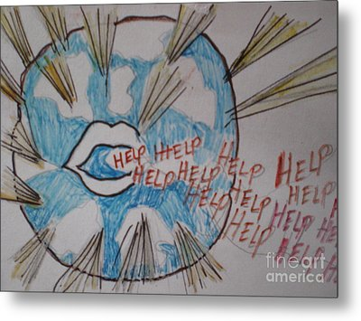 Help The World Metal Print