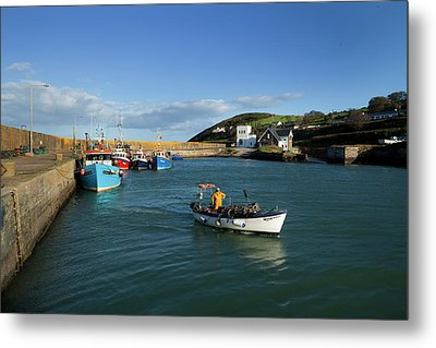 Helvick Harbour, On The An Rinn Ring Metal Print by Panoramic Images