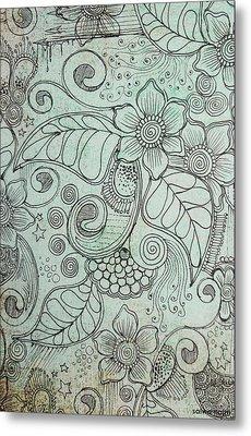Henna Pattern Metal Print by Salwa  Najm