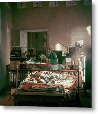 Henri Matisse In Bed Metal Print by Clifford Coffin