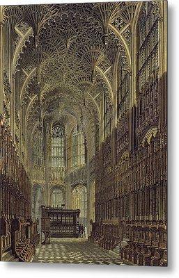 Henry The Seventh Chapel, Plate 8 Metal Print by Frederick Mackenzie