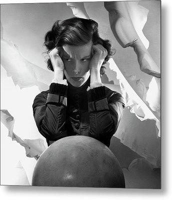 Hepburn Pout Metal Print by Cecil Beaton