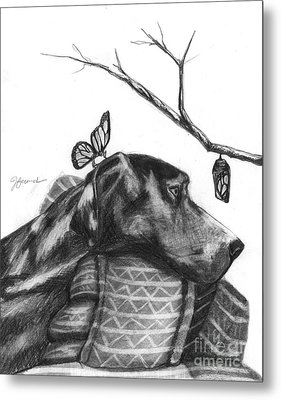 Metal Print featuring the drawing Here Comes Life by J Ferwerda