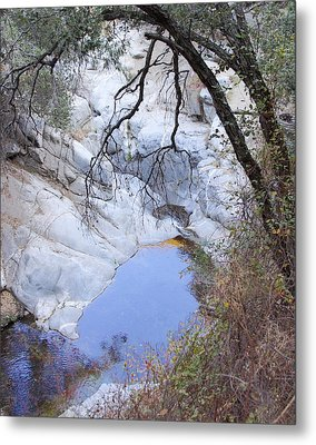 Hermit Waterfalls In Fall Metal Print by Viktor Savchenko