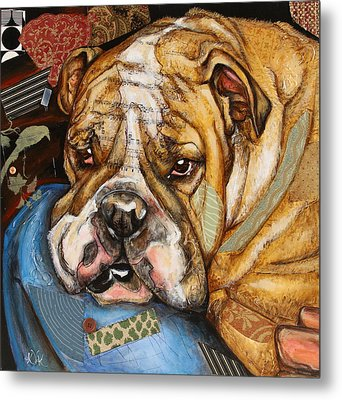 Hey Bulldog Metal Print