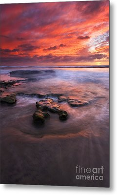 Hidden By The Tides Metal Print by Mike  Dawson