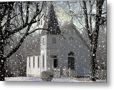 Higgensville Church Metal Print by Liane Wright