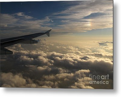 Metal Print featuring the photograph High Above The Clouds by Inge Riis McDonald