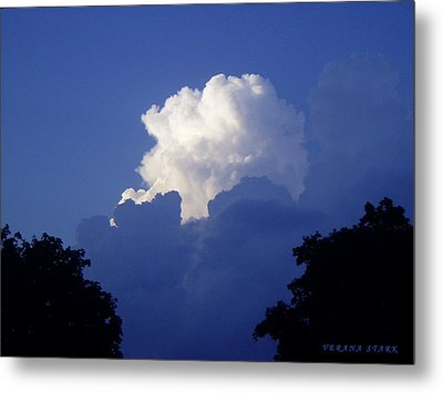 High Towering Clouds Metal Print by Verana Stark