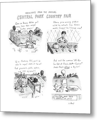 Highlights From The Annual Central Park Country Metal Print by Roz Chast