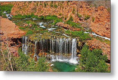 Hike Into Havasupai  Metal Print by Michael J Bauer