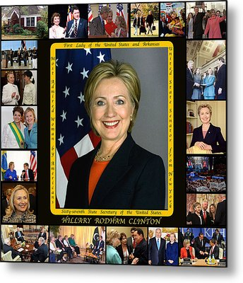 Hillary Rodham Clinton        Metal Print by James William Allen