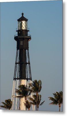 Hillsboro Inlet Lighthouse In The Evening Metal Print by Ed Gleichman