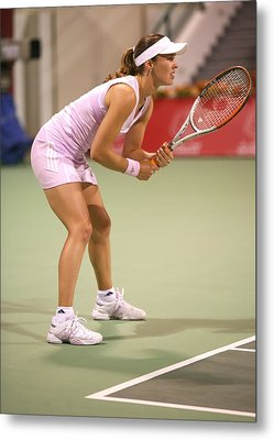 Hingis In Doha Metal Print