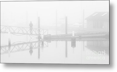 Historic Stewart Farm In The Fog Metal Print
