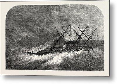 H.m. Steam-sloop Lapwing Commander Montagu Oreilly Metal Print