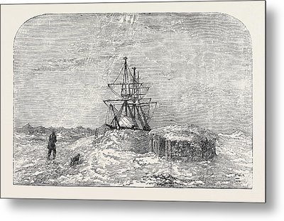H.m.s. Enterprise In Winter Quarters Metal Print by English School