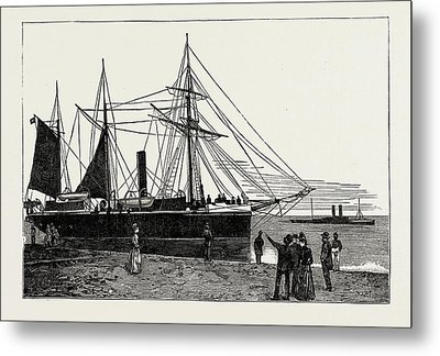 H.m.s. Watchful, Gunboat, Lowestoft Harbour Metal Print by Litz Collection