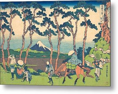 Hodogaya On The Tokaido Metal Print by Katsushika Hokusai