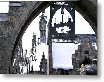 Hogsmeade Sign Metal Print
