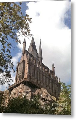 Hogwarts On High Metal Print by Shelley Overton