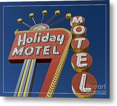 Holiday Motel Las Vegas Metal Print by Edward Fielding