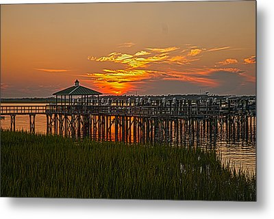 Home At The Dock Metal Print by Will Burlingham