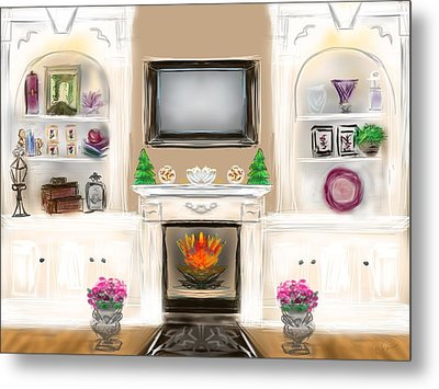 Metal Print featuring the digital art Home For The Holidays by Christine Fournier