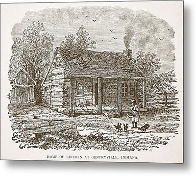 Home Of Lincoln At Gentryville Metal Print