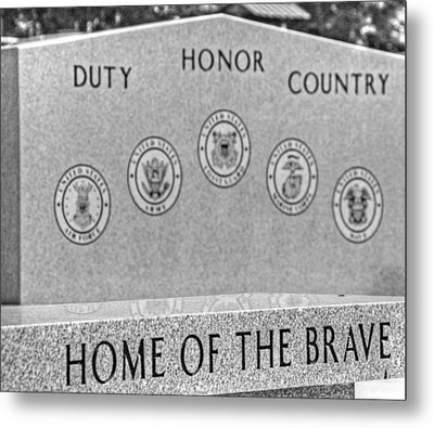 Home Of The Brave Metal Print by Heather Allen
