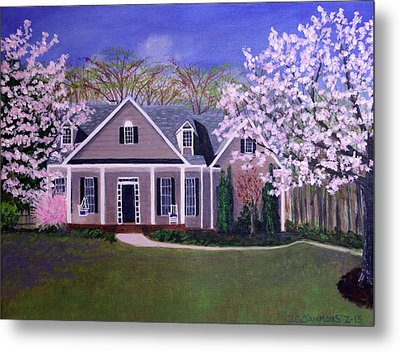 Metal Print featuring the painting Home Sweet Home by Janet Greer Sammons