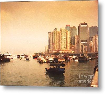 Hong Kong Harbour 02 Metal Print by Pixel Chimp