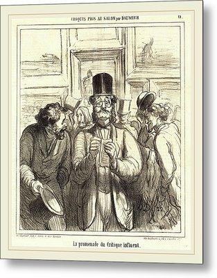 Honoré Daumier French, 1808-1879, La Promenade Du Critique Metal Print