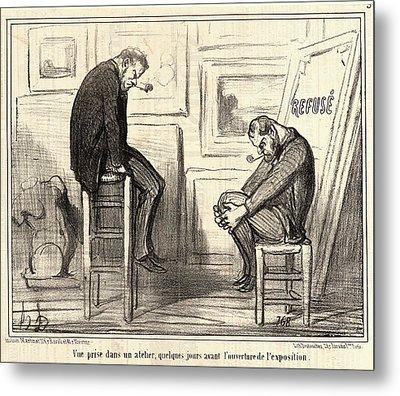 Honoré Daumier French, 1808 - 1879. Vue Prise Dans Un Metal Print