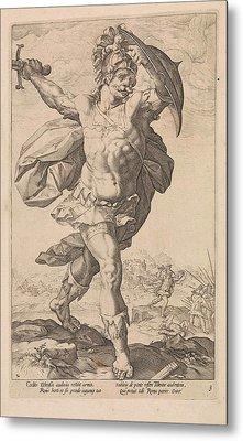 Horatius Codes, Anonymous, Hendrick Goltzius Metal Print by Hendrick Goltzius And Franco Estius