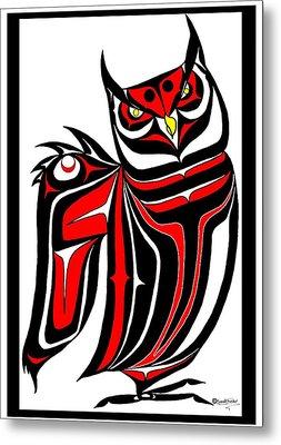 Hornd Owl Metal Print by Speakthunder Berry