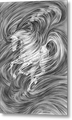 Metal Print featuring the drawing Horsessence - Fantasy Dream Horse Print by Kelli Swan