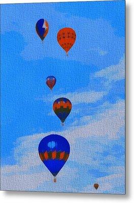 Hot Air Balloons Pop Art Metal Print by Dan Sproul